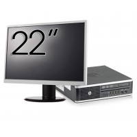 Pachet Calculator HP 8300 USDT, Intel Core i5-3470S 2.90GHz, 8GB DDR3, 120GB SSD, DVD-RW + Monitor 22 Inch