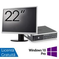 Pachet Calculator HP 8300 USDT, Intel Core i5-3470S 2.90GHz, 8GB DDR3, 120GB SSD, DVD-RW + Monitor 22 Inch + Windows 10 Pro