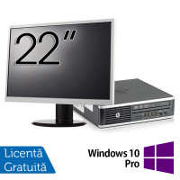 Pachet Calculator HP 8300 USDT, Intel Core i5-3470S 2.90GHz, 8GB DDR3, 500GB SATA, DVD-RW + Monitor 22 Inch + Windows 10 Pro