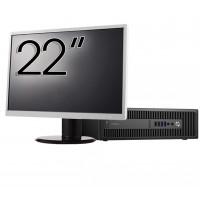 Pachet Calculator HP Prodesk 600 G2 SFF, Intel Core i5-6500 3.20GHz, 8GB DDR4, 120GB SSD + Monitor 22 Inch
