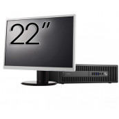 Pachet Calculator HP Prodesk 600 G2 SFF, Intel Core i7-6700 3.40GHz, 8GB DDR4, 1TB SATA + Monitor 22 Inch, Second Hand Solutii de lucru pentru acasa sau scoala