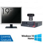 Pachet Calculator Fujitsu E410, Intel Core i3-3220 3.30GHz, 4GB DDR3, 500GB SATA + Monitor 19 Inch + Webcam + Tastatura si Mouse + Windows 10 Home, Refurbished Solutii de lucru pentru acasa sau scoala