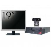 Pachet Calculator Fujitsu E420, Intel Pentium G3260 3.30GHz, 4GB DDR3, 500GB SATA + Monitor 19 Inch + Webcam + Tastatura si Mouse, Second Hand Solutii de lucru pentru acasa sau scoala