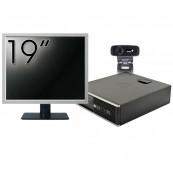 Pachet Calculator HP 6300 SFF, Intel Core i3-2120 3.30GHz, 4GB DDR3, 500GB SATA + Monitor 19 Inch + Webcam + Tastatura si Mouse, Second Hand Solutii de lucru pentru acasa sau scoala
