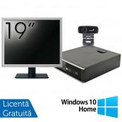 Pachet Calculator HP 6300 SFF, Intel Core i3-2120 3.30GHz, 4GB DDR3, 500GB SATA + Monitor 19 Inch + Webcam + Tastatura si Mouse + Windows 10 Home, Refurbished Solutii de lucru pentru acasa sau scoala