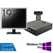 Pachet Calculator HP 6300 SFF, Intel Core i3-2120 3.30GHz, 4GB DDR3, 500GB SATA + Monitor 19 Inch + Webcam + Tastatura si Mouse + Windows 10 Pro, Refurbished Solutii de lucru pentru acasa sau scoala
