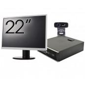 Pachet Calculator HP 6300 SFF, Intel Core i3-2120 3.30GHz, 4GB DDR3, 500GB SATA + Monitor 22 Inch + Webcam + Tastatura si Mouse, Second Hand Solutii de lucru pentru acasa sau scoala