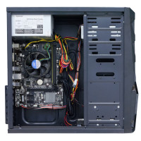 Sistem PC Interlink, Intel Core i3-4130 3.40GHz, 8GB DDR3, 120GB SSD + 500GB SATA, Placa Video AMD Radeon RX 550 4GB GDDR5, DVD-RW, Cadou Tastatura + Mouse