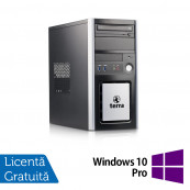Calculator TERRA Tower, Intel Pentium G3220 3.00GHz, 4GB DDR3, 250GB SATA, DVD-ROM + Windows 10 Pro, Refurbished Calculatoare Refurbished