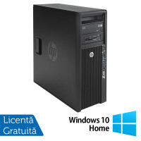 Workstation HP Z420, Intel Xeon Quad Core E5-1620 3.60GHz, 16GB DDR3 ECC, 240GB SDD, Placa video Gaming AMD Radeon R7 350 4GB GDDR5 128-Bit, DVD-RW + Windows 10 Home