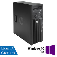 Workstation HP Z420, Intel Xeon Quad Core E5-1620 3.60GHz, 16GB DDR3 ECC, 240GB SDD, Placa video Gaming AMD Radeon R7 350 4GB GDDR5 128-Bit, DVD-RW + Windows 10 Pro