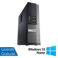 Calculator DELL 3020 SFF, Intel Core i5-4590 3.30GHz, 8GB DDR3, 500GB SATA, DVD-RW + Windows 10 Home
