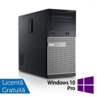 Calculator DELL Optiplex 390 Tower, Intel i3-2100 3.10GHz, 4GB DDR3, 250GB SATA, DVD-ROM + Windows 10 Pro