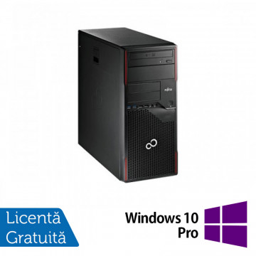 Calculator FUJITSU SIEMENS Esprimo P700 Tower, Intel Core i3-2120 3.30GHz, 4GB DDR3, 320GB SATA, DVD-ROM + Windows 10 Pro Calculatoare Refurbished