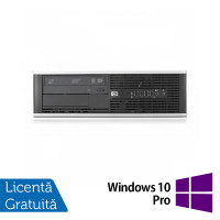 Calculator HP 6300 SFF, Intel Core i3-2100 3.10GHz, 4GB DDR3, 250GB SATA, DVD-ROM + Windows 10 Pro