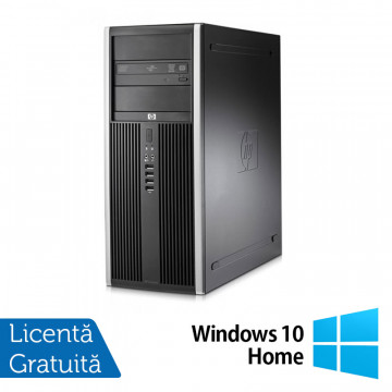 Calculator HP Compaq 8000 Elite Tower, Intel Core2 Duo E7500, 2.93 GHz, 4 GB DDR 3, 250GB SATA, DVD-RW + Windows 10 Home Calculatoare Refurbished
