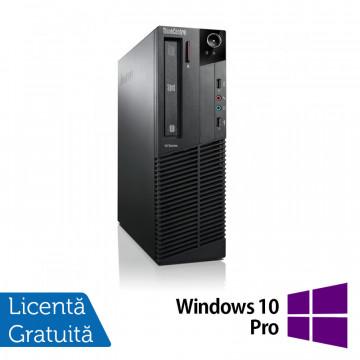 Calculator LENOVO Thinkcentre M92p, SFF, Intel Pentium Dual Core G2120, 3.10 GHz, 4GB DDR3, 500GB SATA, DVD-ROM + Windows 10 Pro Calculatoare Refurbished