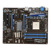 Kit Placa de Baza MSI A75A-G55, Socket FM1  + Procesor AMD A4-3300 2.50GHz, Shield si Cooler, Second Hand Componente Calculator