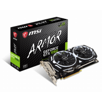 Placa video MSI Nvidia GTX 1060 Armor OC, 3GB GDDR5, HDMI, Display Port, DVI, 192 Biti