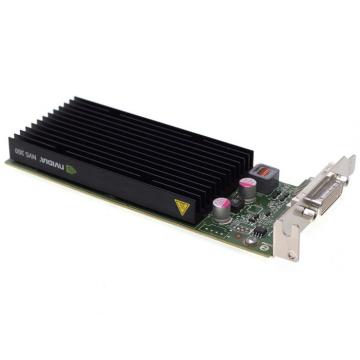 Placa video Nvidia Quadro NVS 300, 512MB DDR3, 64-bit, Low Profile + Cablu DMS-59 cu doua iesiri VGA, Second Hand Componente Calculator