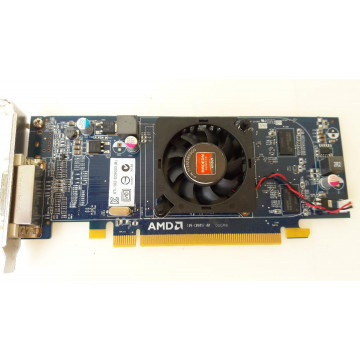 Placa video PCI-E ATI Radeon Card 6350 512MB, Low Profile + Cablu DMS-59 cu doua iesiri VGA Componente Calculator