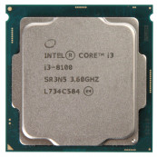 Procesor Intel Core i3-8100 3.60GHz, 4 Nuclee, 6MB Cache, Socket 1151, Second Hand Componente Calculator