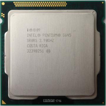 Procesor Intel Pentium Dual Core G645 2.90GHz, 3MB Cache, Socket LGA1155, Second Hand Componente Calculator