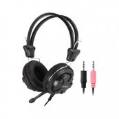 Casti A4Tech HS-28-1, 40mm, Jack 3.5mm, Cu microfon, Negru Periferice