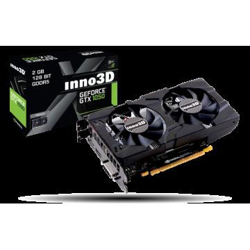 Placa video Inno3D GeForce GTX 1050 Twin X2, 2GB, DP 1.2+HDMI 2.0+DL-DVI, N1050-1DDV-E5CM Componente Calculator