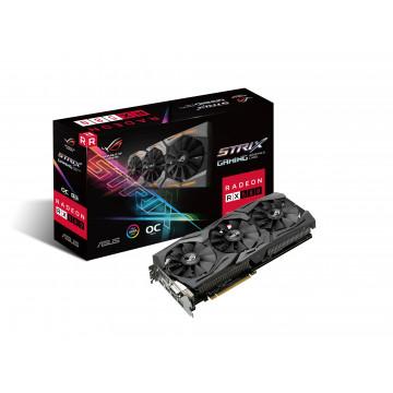 Placa Video Noua, ASUS ROG Strix Radeon RX 580 T8G Gaming Top OC Edition GDDR5 DP HDMI DVI VR Ready AMD Componente Calculator