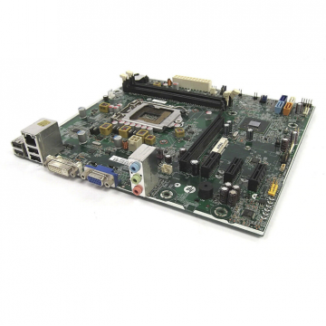 Placa de baza Socket 1155, mATX, HP model: SP# 687577-001 pentru calculator HP 3500 Tower, DDR3, cu shield, cooler, second hand Componente Calculator