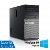 Calculator DELL GX790, Tower, Intel Core i3-2100, 3.10 GHz, 4GB DDR3, 250GB SATA, DVD-RW + Windows 10 Home Calculatoare Refurbished
