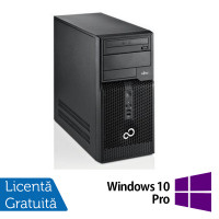 Fujitsu Siemens Esprimo P510, Intel Dual Core G640, 2.8GHz, 4GB DDR3, 500GB SATA, DVD-RW + Windows 10 Pro