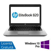 Laptop HP Elitebook 820 G2, Intel Core i5-5200U 2.20GHz, 8GB DDR3, 120GB SSD + Windows 10 Pro