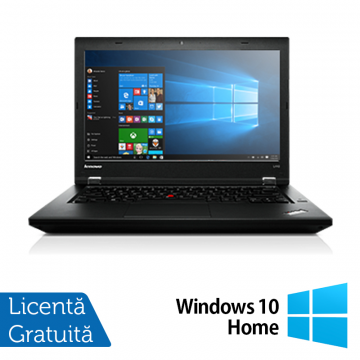 Laptop Refurbished LENOVO L440, Intel Core i5-4300M, 2.6GHz, 4GB DDR3, 500GB SATA, DVD-RW Extern, Display 14 Inch Wide + Windows 10 Home Laptopuri Refurbished