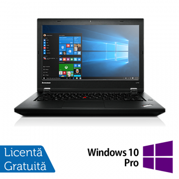 Laptop Refurbished LENOVO L440, Intel Core i5-4300M, 2.6GHz, 4GB DDR3, 500GB SATA, DVD-RW Extern, Display 14 Inch Wide + Windows 10 Pro Laptopuri Refurbished