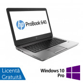 Laptop HP ProBook 640 G1, Intel Core i5-4200M 2.50GHz, 4GB DDR3, 320GB SATA, DVD-RW, Webcam, 14 inch + Windows 10 Pro, Refurbished Laptopuri Refurbished