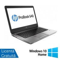 Laptop Refurbished HP ProBook 640 G1, Intel Core i5-4200M 2.50GHz, 4GB DDR3, 500GB SATA, Webcam, 14 inch + Windows 10 Pro