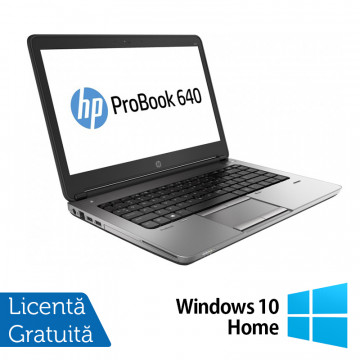 Laptop Refurbished HP ProBook 640 G1, Intel Core i5-4200M 2.50GHz, 8GB DDR3, 320GB SATA, Webcam, 14 inch + Windows 10 Home Laptopuri Refurbished