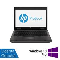 Laptop HP ProBook 6470B, Intel Core i5-3340M 2.70GHz, 4GB DDR3, 320GB SATA, DVD-RW, Webcam, 14 Inch + Windows 10 Pro