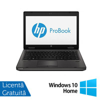 Laptop Refurbished HP ProBook 6470B, Intel Core i5-3210M 2.50GHz, 4GB DDR3, 320GB SATA, DVD-RW, 14 Inch + Windows 10 Home