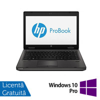 Laptop Refurbished HP ProBook 6470B, Intel Core i5-3230M 2.60GHz, 4GB DDR3, 120GB SSD, DVD-RW, Webcam + Windows 10 Pro