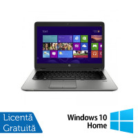 Laptop HP EliteBook 820 G1, Intel Core i5-4300U 1.90GHz, 4GB DDR3, 120GB SSD, 12.5 Inch, Webcam + Windows 10 Home