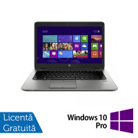 Laptop HP EliteBook 820 G1, Intel Core i5-4300U 1.90GHz, 4GB DDR3, 120GB SSD, 12.5 Inch, Webcam + Windows 10 Pro