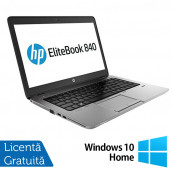 Laptop HP EliteBook 840 G1, Intel Core i5-4200U 1.60GHz, 4GB DDR3, 120GB SSD, 14 Inch, Webcam + Windows 10 Home, Refurbished Laptopuri Refurbished