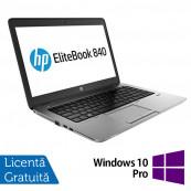 Laptop HP Elitebook 840 G2, Intel Core i5-5300U 2.30GHz, 8GB DDR3, 120GB SSD, Webcam, 14 Inch + Windows 10 Pro, Refurbished Laptopuri Refurbished
