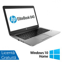 Laptop Refurbished HP EliteBook 840 G1, Intel Core i7-4600U 2.10GHz , 8GB DDR3, 120GB SSD, Webcam, 14 Inch + Windows 10 Home