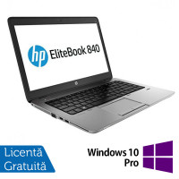 Laptop Refurbished HP EliteBook 840 G1, Intel Core i7-4600U 2.10GHz , 8GB DDR3, 120GB SSD, Webcam, 14 inch + Windows 10 Pro