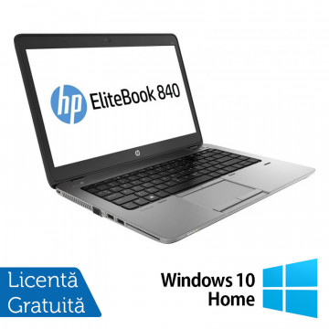 Laptop HP Elitebook 840 G2, Intel Core i5-5200U 2.20GHz, 8GB DDR3, 120GB SSD, 14 Inch + Windows 10 Home, Refurbished Intel Core i5