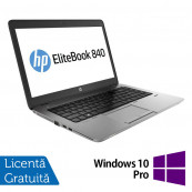Laptop HP Elitebook 840 G2, Intel Core i7-5500U 2.40GHz, 8GB DDR3, 120GB SSD, 14 Inch + Windows 10 Pro, Refurbished Laptopuri Refurbished